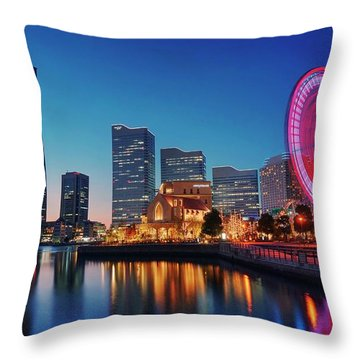 Throw Pillow featuring the photograph Shine On You Crazy Ferris Wheel by Peter Thoeny