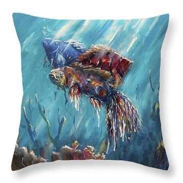 Shine Trough The Ocean Throw Pillow