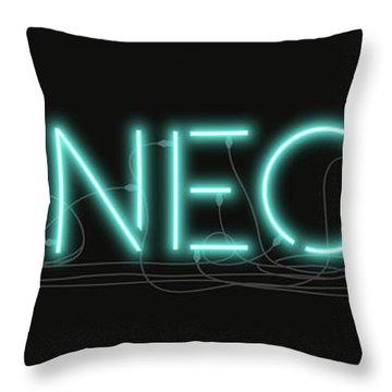Shineonu - Neon Sign 1 Throw Pillow