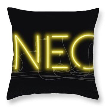 Shineonu - Neon Sign 3 Throw Pillow