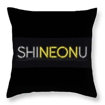 Shineonu - Neon Sign 3 Throw Pillow