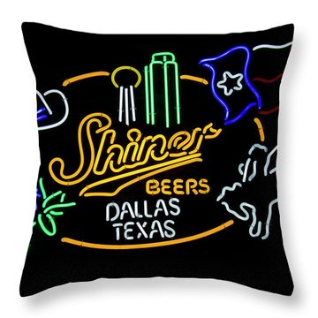 Shiner Beers Dallas Texas Throw Pillow