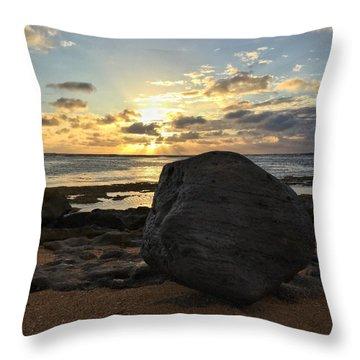 Shining Over The Boulder  Throw Pillow