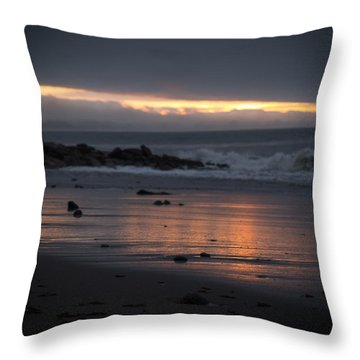 Throw Pillow featuring the photograph Shining Sand by Lora Lee Chapman
