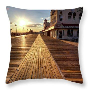 Shining Walkway Throw Pillow by John Loreaux