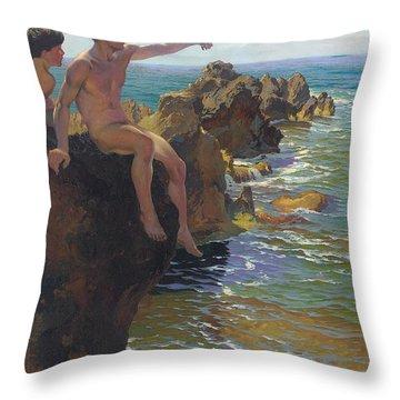 Bathers Throw Pillows