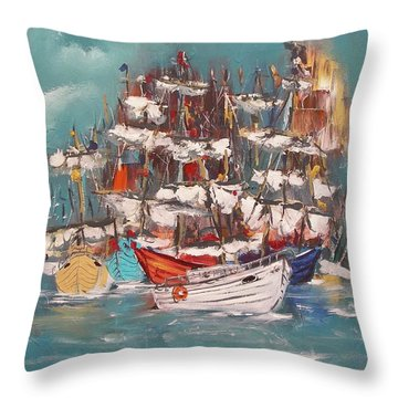 Ship Harbor Throw Pillow
