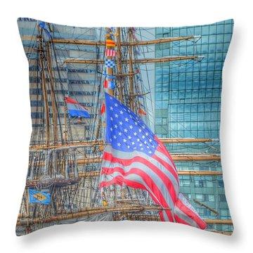 Ship In Baltimore Harbor Throw Pillow