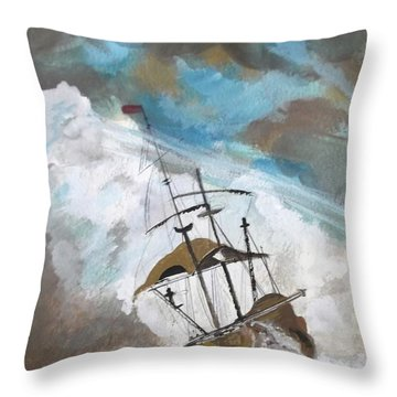 Ship In Need Throw Pillow by Carole Robins