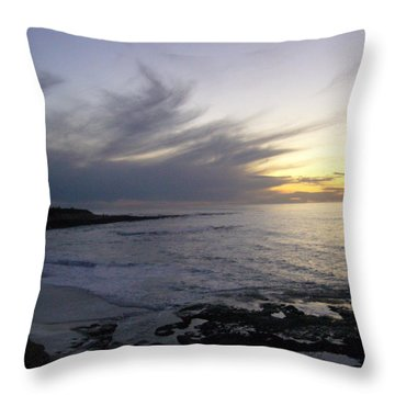 Ship In The Clouds Throw Pillow