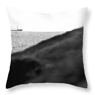Ship On The Horizon. Throw Pillow