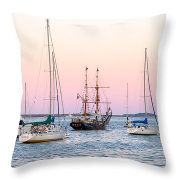 Ship Out Of Time Throw Pillow