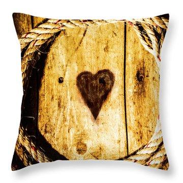 Ship Shape Heart Throw Pillow