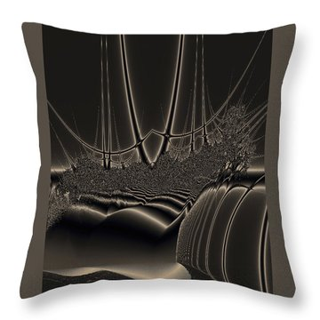 Ship Wreck Abstract Throw Pillow