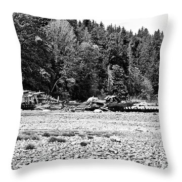 Ship Wreck  Throw Pillow