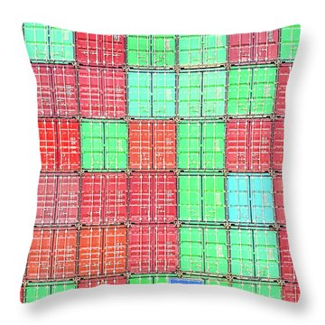 Shipping Cross Throw Pillow