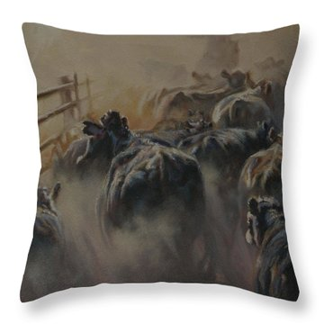 Shipping Dust Throw Pillow by Mia DeLode