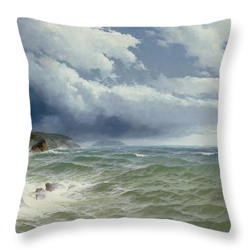 Shipping In Open Seas Throw Pillow by David James