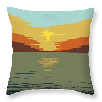 Shipping Off Throw Pillow
