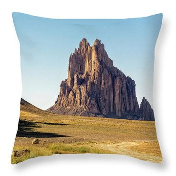 Shiprock 3 - North West New Mexico Throw Pillow