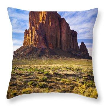 Shiprock Throw Pillow by Inge Johnsson