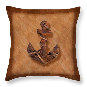 Ship's Anchor Throw Pillow