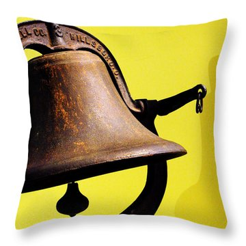 Ship's Bell Throw Pillow by Rebecca Sherman