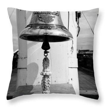 Ships Bell Uss Constitution Throw Pillow