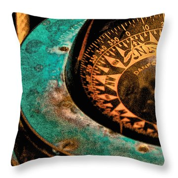 Ship's Compass Throw Pillow