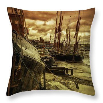 Ships From Essex Maldon Estuary Throw Pillow