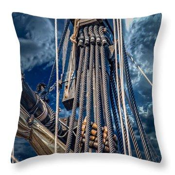 Ships Mast Throw Pillow