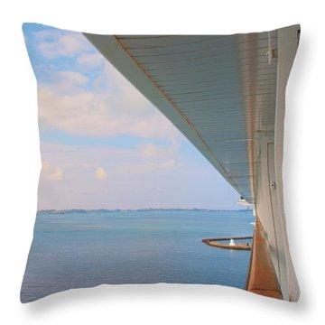 Ships Rail Throw Pillow