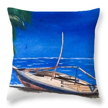 Shipwreck Throw Pillow by Catherine Swerediuk
