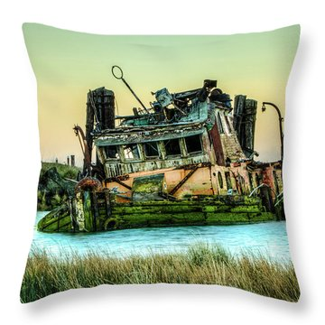 Shipwreck - Mary D. Hume Throw Pillow