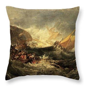 Shipwreck Of The Minotaur Throw Pillow