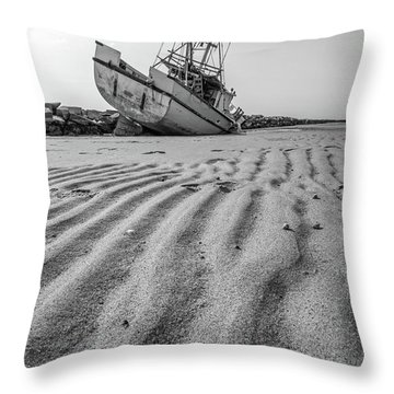 Shipwreck Provincetown Throw Pillow