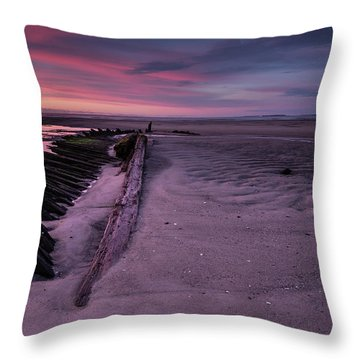 Shipwreck Sunrise  Throw Pillow