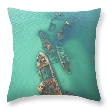 Shipwrecks Throw Pillow