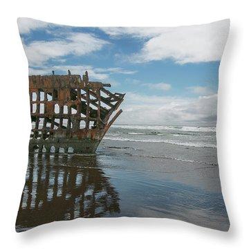 Throw Pillow featuring the photograph Shipwreck by Elvira Butler