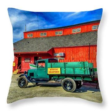 Shipyard Work Truck Throw Pillow