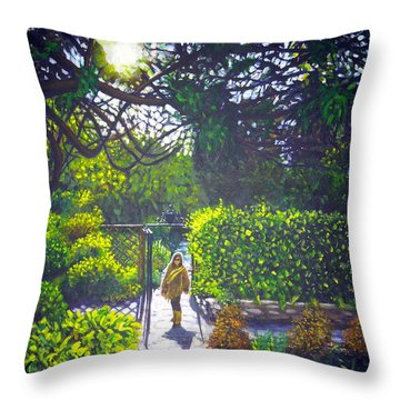 Shirley At Chalice Well Throw Pillow