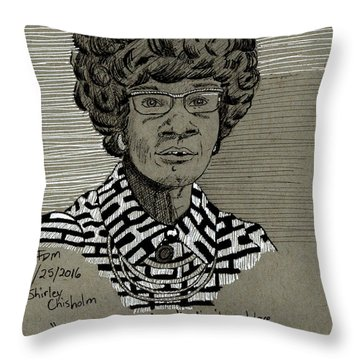 Shirley Chisholm Throw Pillow