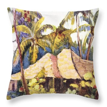 Shirley Russell Art Throw Pillow by Hawaiian Legacy Archive - Printscapes