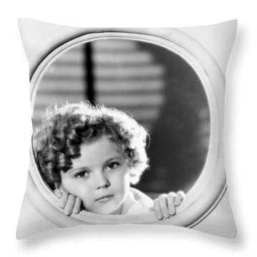 Shirley Temple (1928-2014) Throw Pillow by Granger