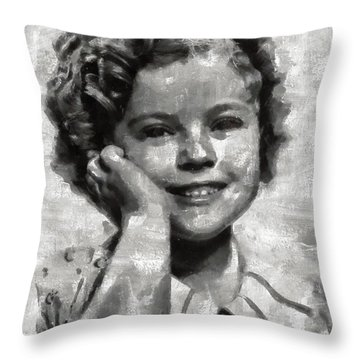 Shirley Temple By Mary Bassett Throw Pillow