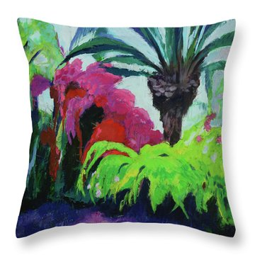 Shirley's Garden Throw Pillow