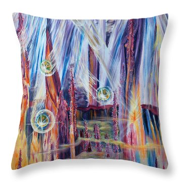 Shivuot- Receiving The Light From The Universe Throw Pillow