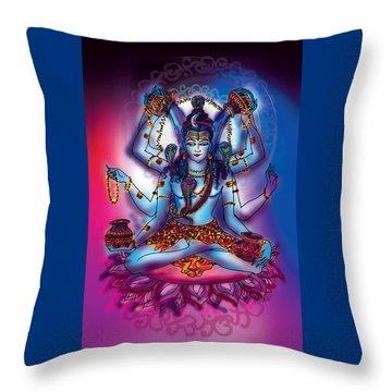 Shiva Abhishek  Throw Pillow