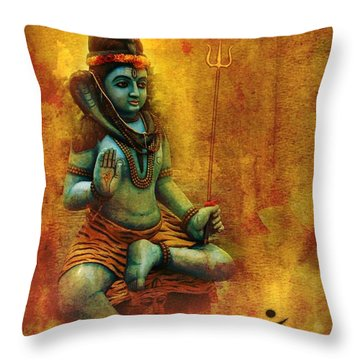 Shiva Hindu God Throw Pillow