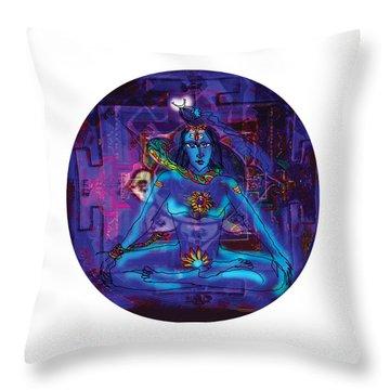 Shiva In Meditation Throw Pillow